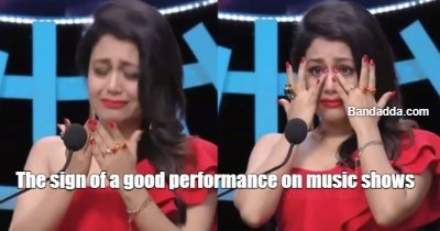 No crying no party #bollywood #songs #musicshows #scripted #fake #crocodiletears @mikhail