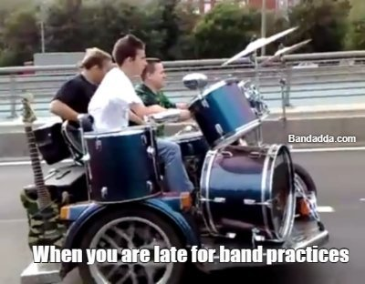 Time to hurry up #band #practice mikhail