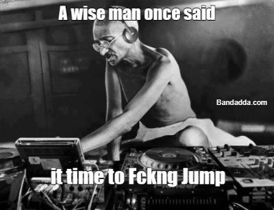 Gandhi on the wheel lets get moving #gandhiedm #jumping #rav
