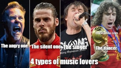 Different types of music lovers #edm #metal #bollywoodmusic