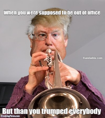The orignal maestro #trump #trumpet #office #impeachment