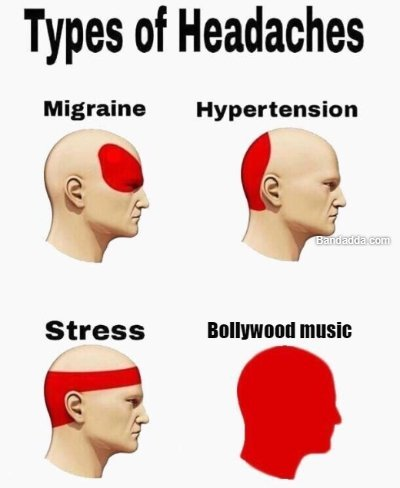 Next level headache #headache #bollywood #music #rip #best